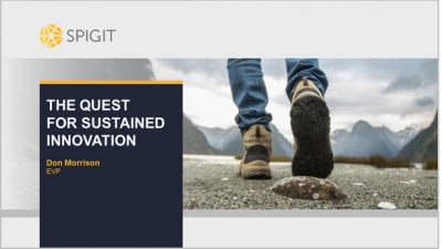 Spigit: The Quest for Sustained Innovation