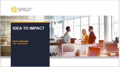 Spigit: Idea to Impact sales presentation
