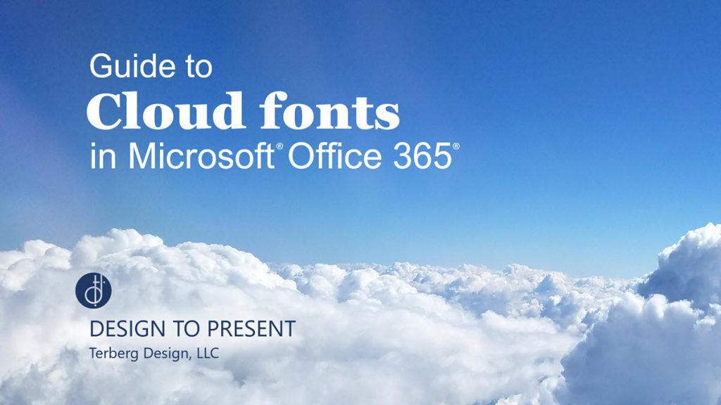 Picture of clouds with Cloud Fonts Guide title and logo